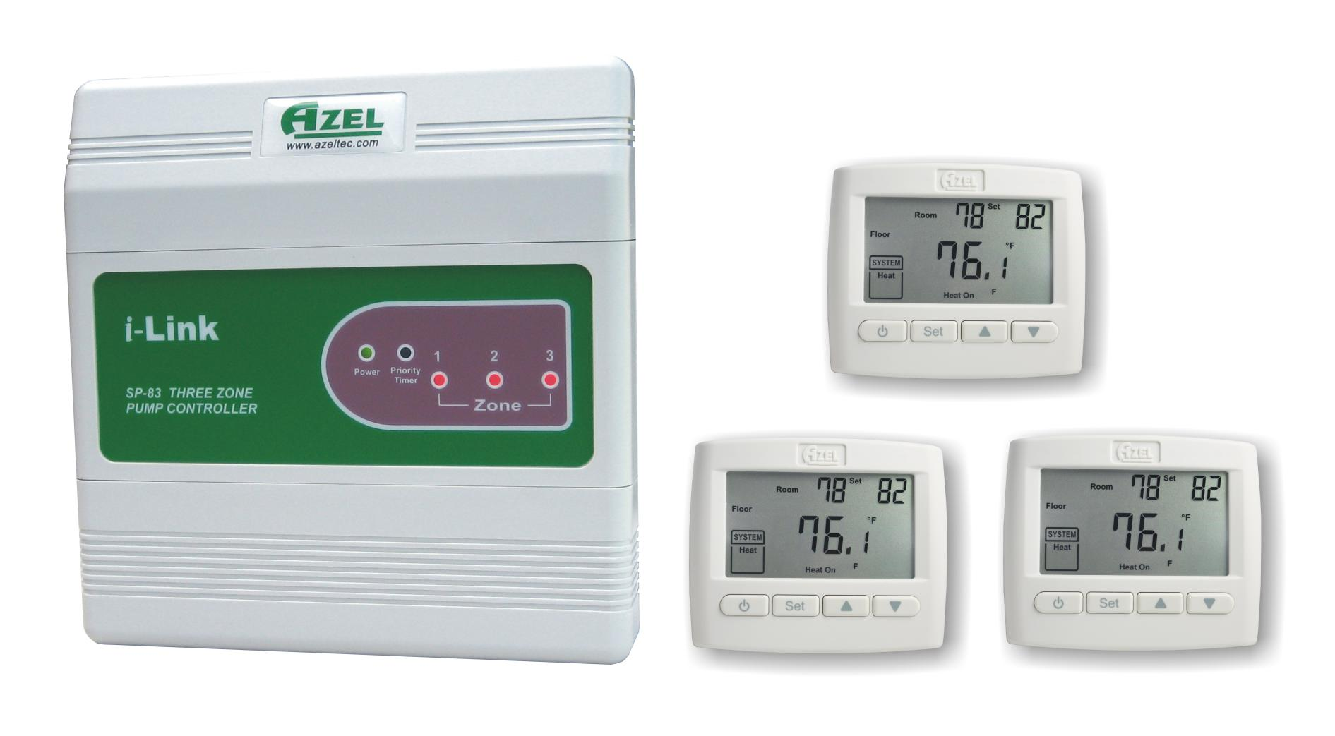 Package Deal: SP-83 with 3 units of D-508F Floor Heating Thermostats