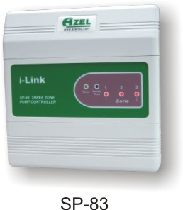 SP-83: 3 ZONE PUMP / CIRCULATOR CONTROL (SWITCHING RELAY) WITH PRIORITY FOR HYDRONIC RADIANT FLOOR HEATING SYSTEMS