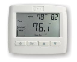 D-508F: NON-PROGRAMMABLE DIGITAL SLAB SENSING THERMOSTAT FOR HYDRONIC RADIANT FLOOR HEATING