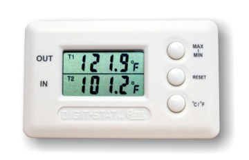 Dual Zone Digital Temperature Gauge(thermometer) with 2 sensor probes x 2 units (discount price)