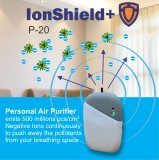 IonShield+ P-20 Personal Rechargeable Portable Air Purifier | Negative Ion Generator – Purifies dust particles, germs, virus, smoke, allergens, pollen and more