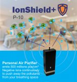 IonShield+ P-10 Personal Rechargeable Portable Air Purifier | Negative Ion Generator – Purifies dust particles, germs, virus, smoke, allergens, pollen and more